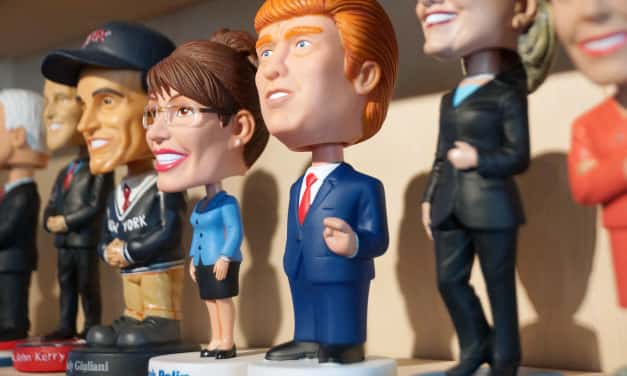 Life imitating art, Donald Trump IS a bobblehead