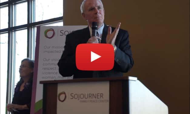 Video: Mayor Barrett at Sojourner