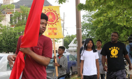 Youth march for nonviolence in Summer of Peace rallies
