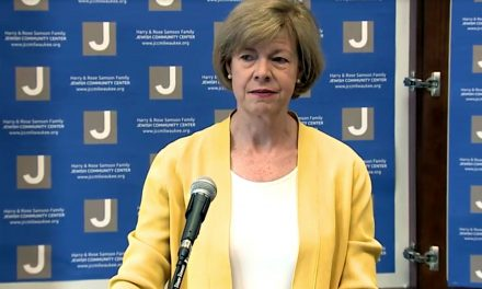 Senator Baldwin speaks out against anti-Semitism during JCC visit
