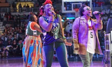 Photo Essay: Arrested Development comes home for Bucks halftime show