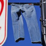Annual denim pants display to raise awareness about sexual assault