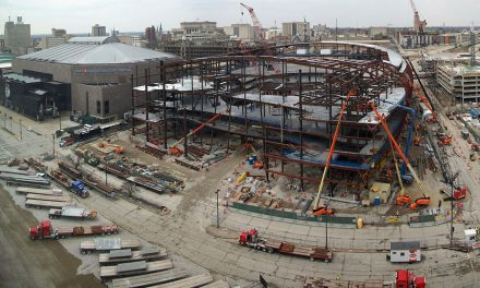 Time-Lapse: 28 months of Fiserv Forum construction in 84 seconds