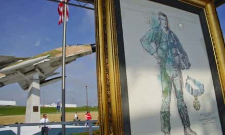 Photo Essay: An example of courage installed at Mitchell Airport