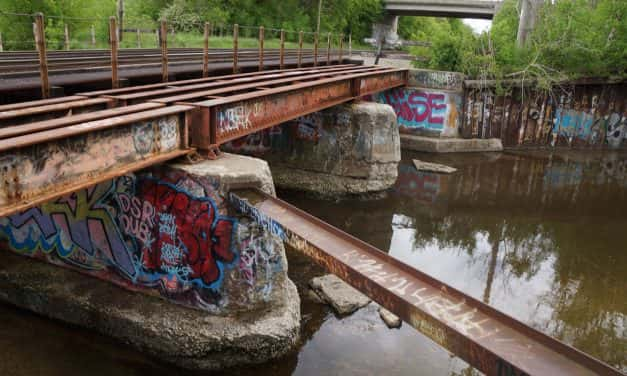 Photo Essay: A waterway of decay, graffiti, and homelessness