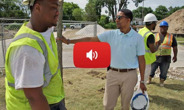 Audio: Youth learn trade skills at Westlawn sports complex build