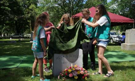 Girl Scout troop honors legacy of Meta Schlichting Berger with monument