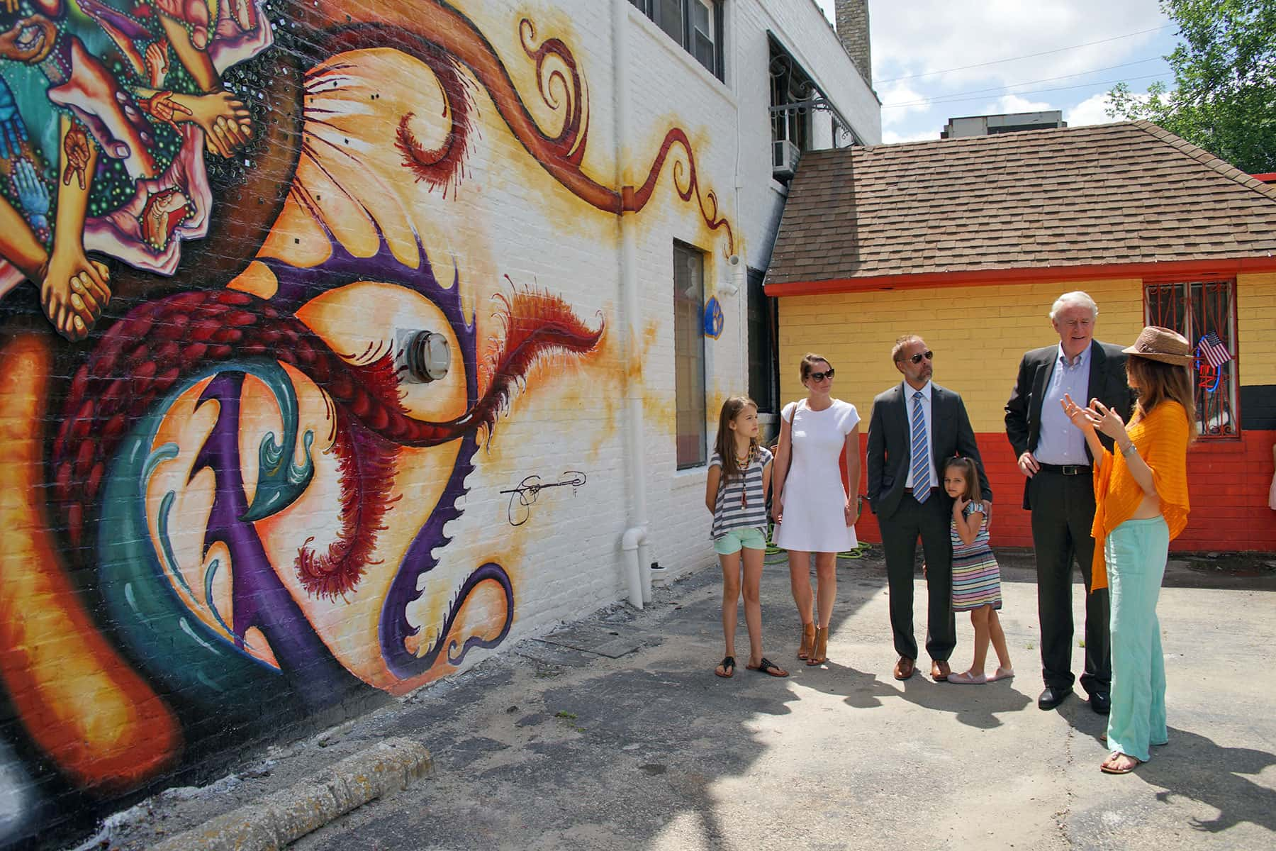 Handala mural features kids from clarke square for Community mural