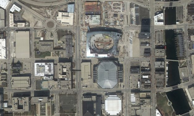 Satellite images show view of Bucks Arena from space