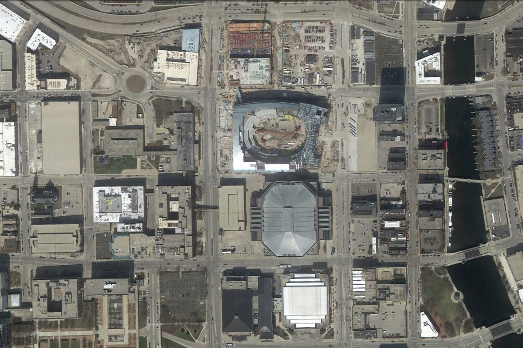 Satellite images show view of Bucks Arena from space | The Milwaukee ...