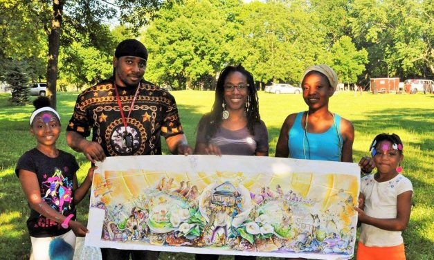 """""""Sherman Park Rising"""" mural takes shape as community comes together to paint"""