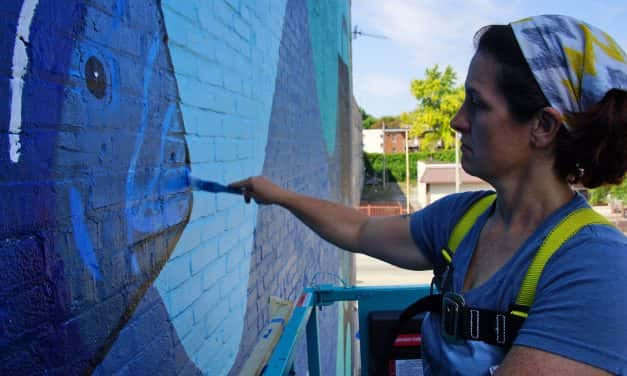 Photo Essay: 88Nine gifts gigantic mural to Central City