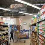 Shopping during Pandemic: Customers at Pete's Fruit Market get surprise gift of free groceries