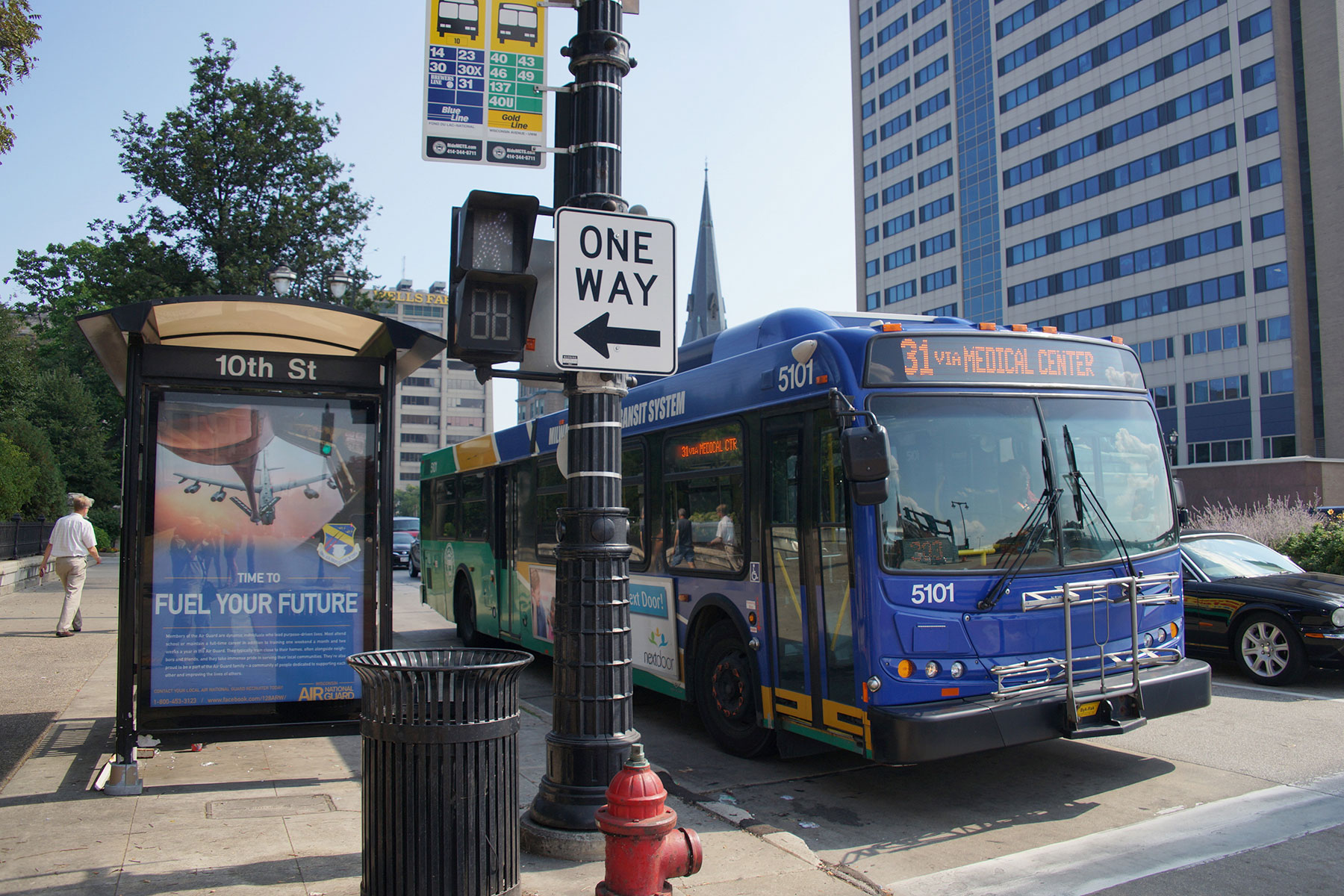 map: a one day doors open route by bus and foot | the milwaukee