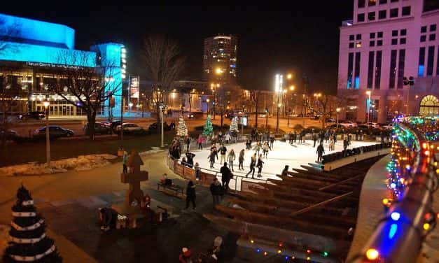 Slice of Ice kicks off with Polar Pals skating support at Red Arrow Park