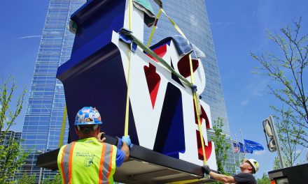 Wisconsin Avenue gets some LOVE with iconic sculpture by the late Robert Indiana