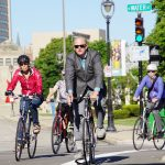 City leaders commute by bicycle for start of Wisconsin Bike Week