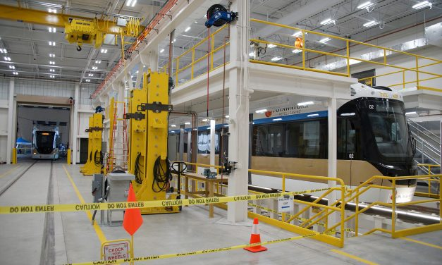 """An excited public gets first chance to """"Board The Hop"""" at Streetcar Open House"""