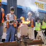 The Hop marks major milestone for end of Streetcar construction with ceremonial last weld