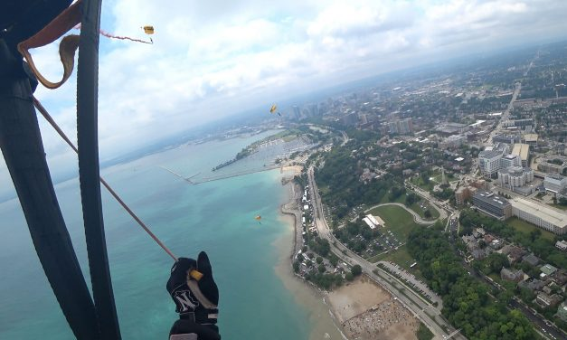 Video: Army's elite parachute demonstration team descends over lakefront