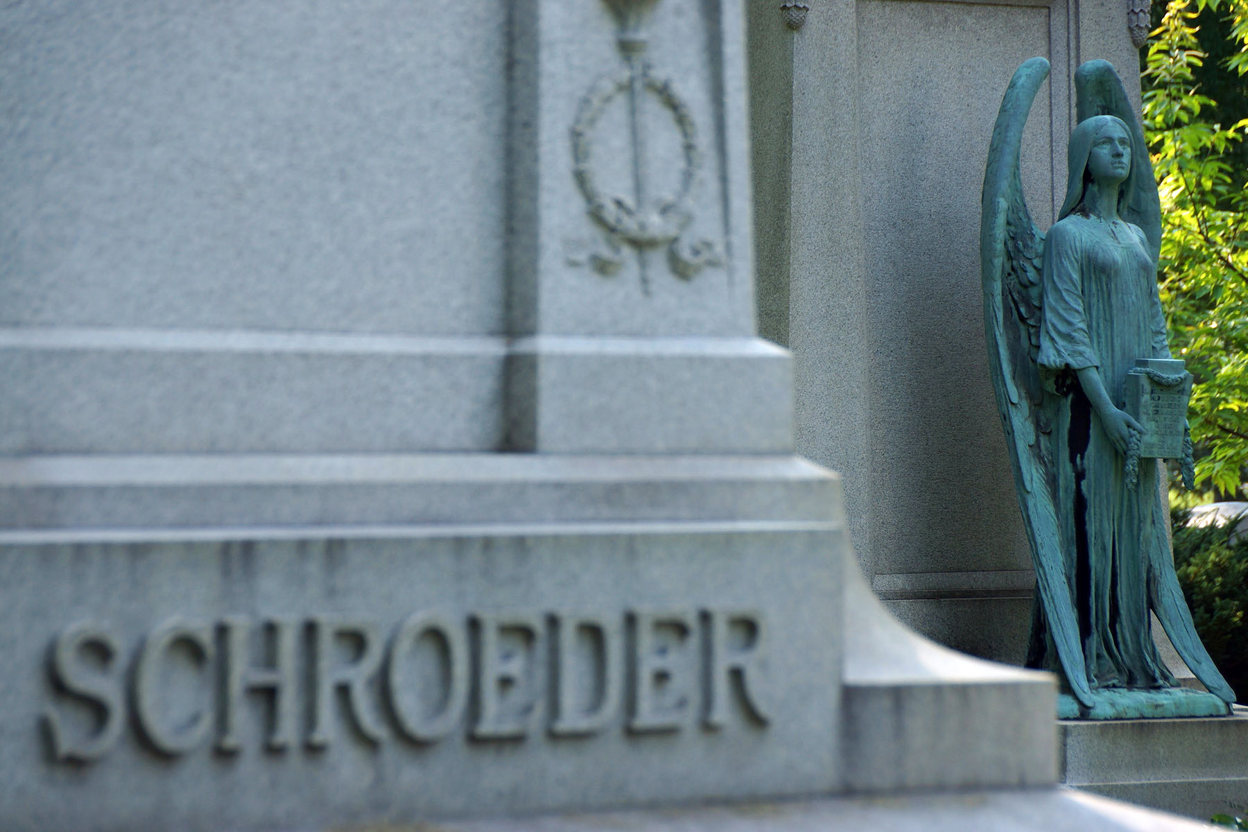iconic bronze angel statue of schroeder family stolen from forest