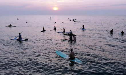 "Waveriders greet the summer sunrise with ""Wiloha"" surf culture"