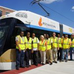 First crew of the Milwaukee Streetcar takes full-route daylight test drive