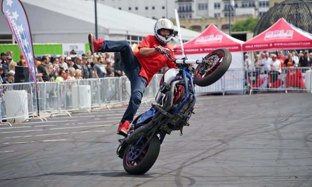 Cole Freeman keeps stunt bike tradition at full-throttle for Harley-Davidson museum show
