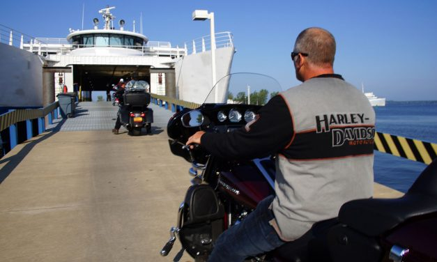 Lake Michigan shortcut helped Harley-Davidson riders float into town for 115th festivities