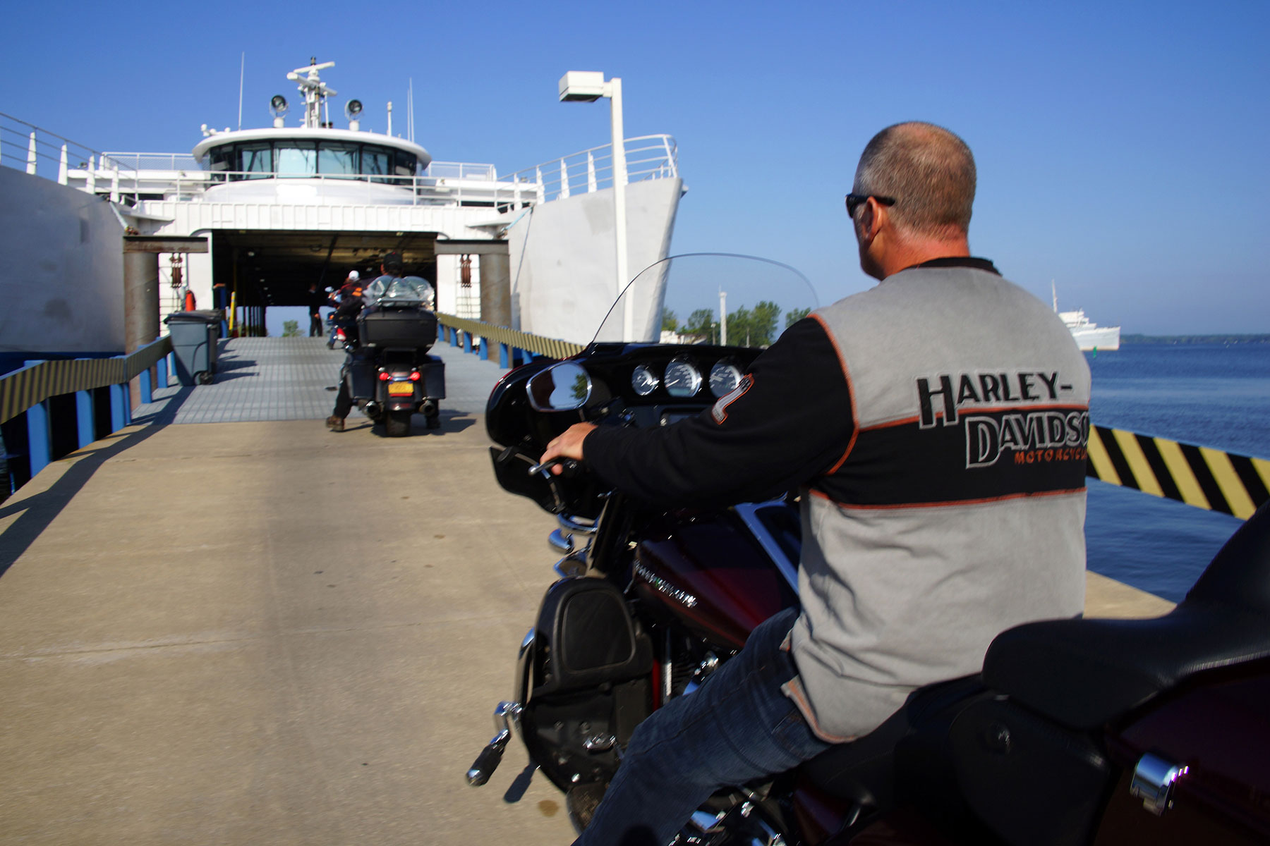 Harley Davidson Michigan >> Lake Michigan Shortcut Helped Harley Davidson Riders Float