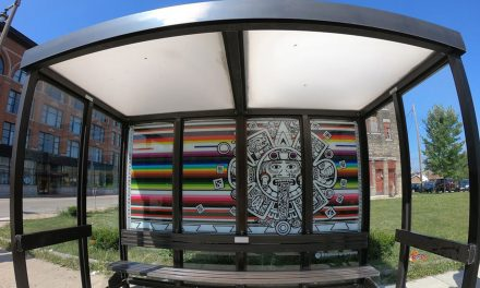 Stolen MTCS bus shelter artwork returned after released video shows heist mastermind