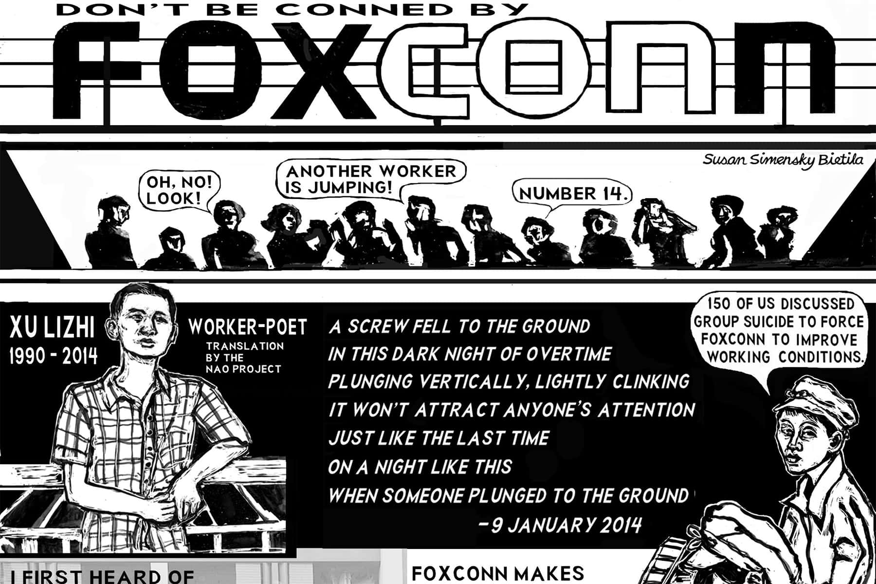 Local activist publishes an illustrated guide to explain the politics behind Foxconn