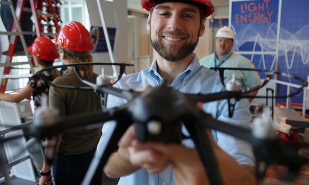 Autonomous drone exhibit takes flight thanks to ingenuity of local aerospace company and students
