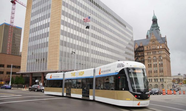 Downtown voters ride The Hop to cast ballots in midterm election