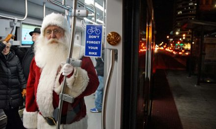 Santa comes to downtown by streetcar for 2018 Holiday Lights Festival