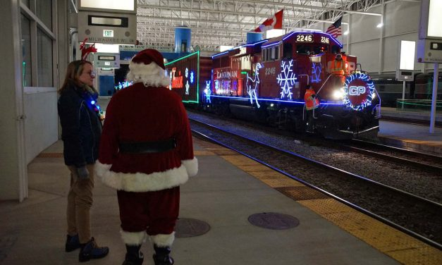 20th annual Holiday Train rolls into town with Santa, smiles, and help for the hungry