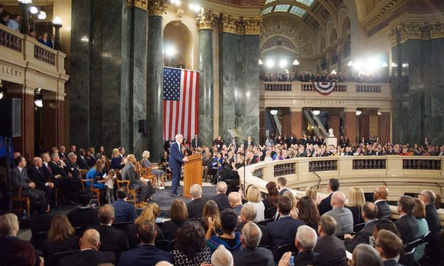 """In becoming 46th Governor of Wisconsin, Tony Evers calls for unity and """"putting people first"""""""