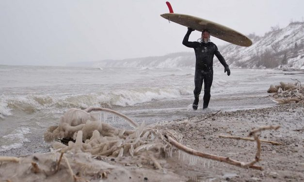 Surfing Comes Home to Milwaukee: Forging friendships in the frigid freshwater waves of Lake Michigan