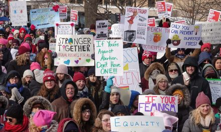 Hundreds of Wisconsinites brave snow and bitter cold to participate in Women's March