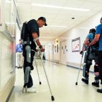 Paralyzed veterans at Milwaukee VA use robotic exoskeletons to walk again