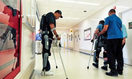 Paralyzed veterans at Milwaukee VA use robotic exoskeletons to walk again