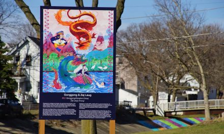 Art display of River Deities reflect immigrant cultures that settled along South Side waterways