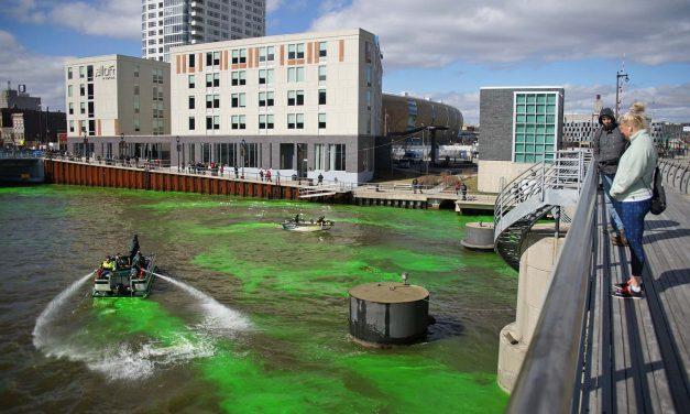 Fear the Deer: Milwaukee paints the town green to celebrate Bucks NBA playoffs