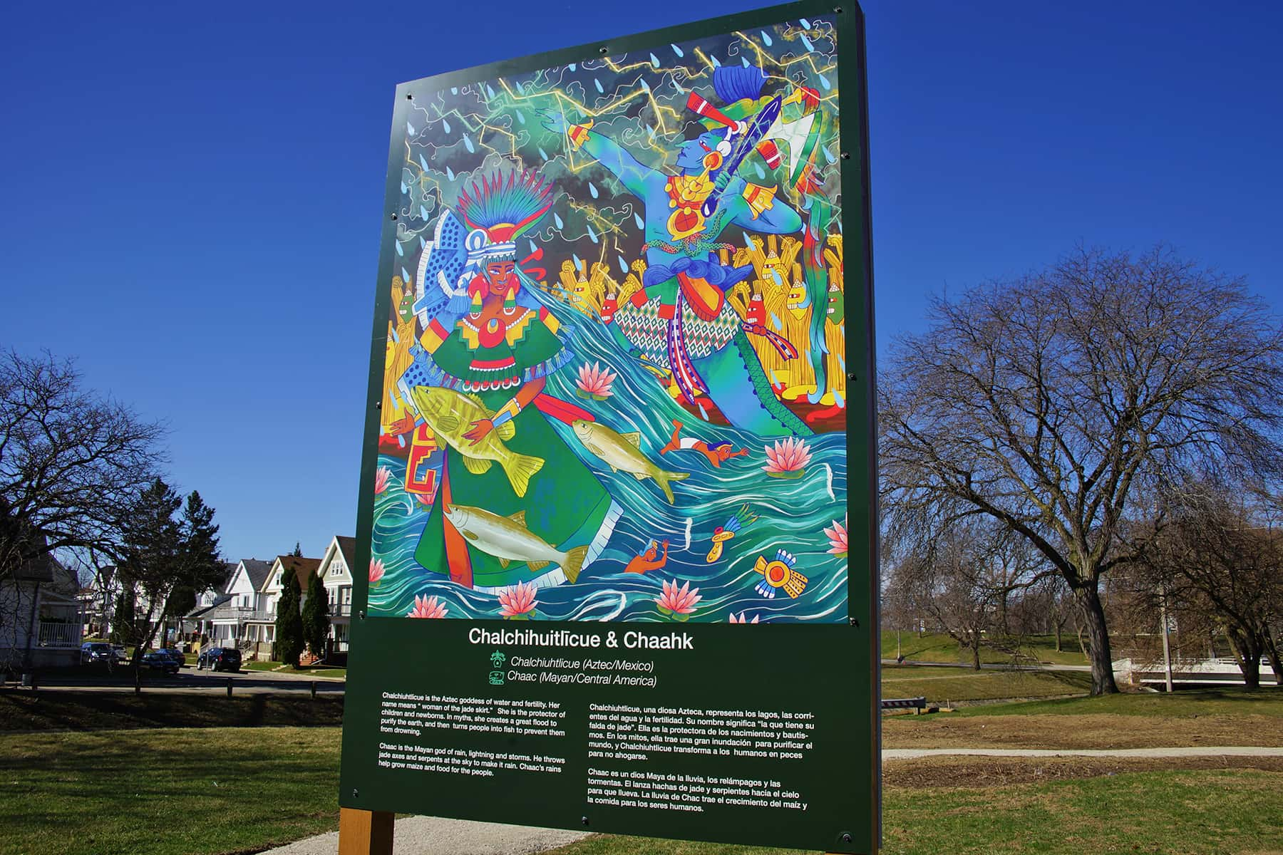 Art display of River Deities reflect immigrant cultures that