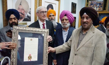 Governor Tony Evers brings proclamation of love and support to Sikh Americans in Oak Creek