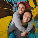 Mother-daughter duo paint swing bridge mural inspired by nearby river ecology