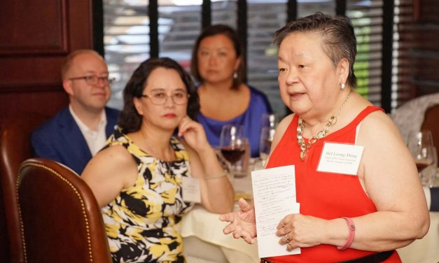 Bel Leong-Hong shares insight with Milwaukee's Asian community for economic inclusion at 2020 DNC