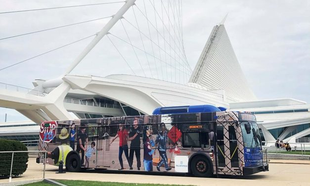 Students in Teen ArtXpress program design Anti-ICE mural for MCTS Bus advertisement