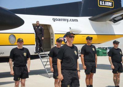 Golden Knights mark 60th year with precise landings from