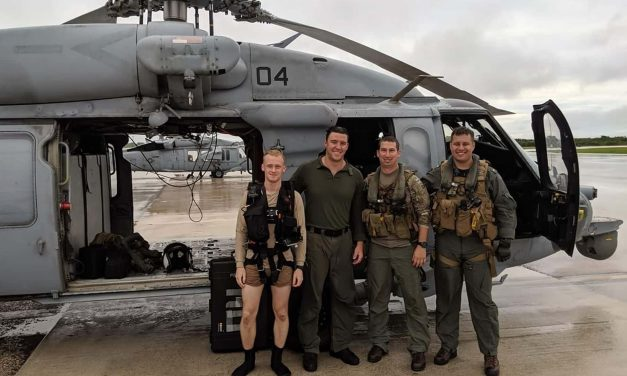 Three Naval Air Crewmen from Wisconsin part of rescue squadron credited with saving sailor at sea